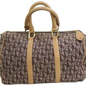 Dior Brown Monogram Oblique Trotter Boston 859673